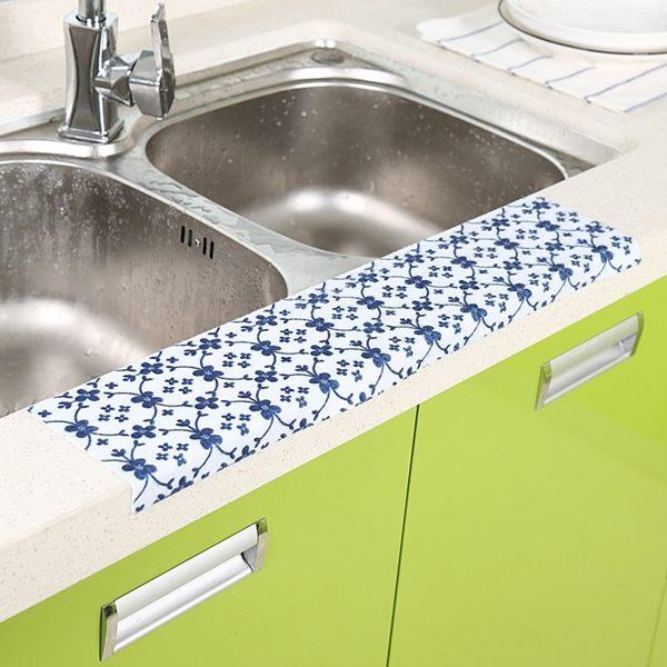 PS Mall 廚浴水槽吸濕貼 防水貼 靜電貼 吸水貼 顏色隨機【J896】