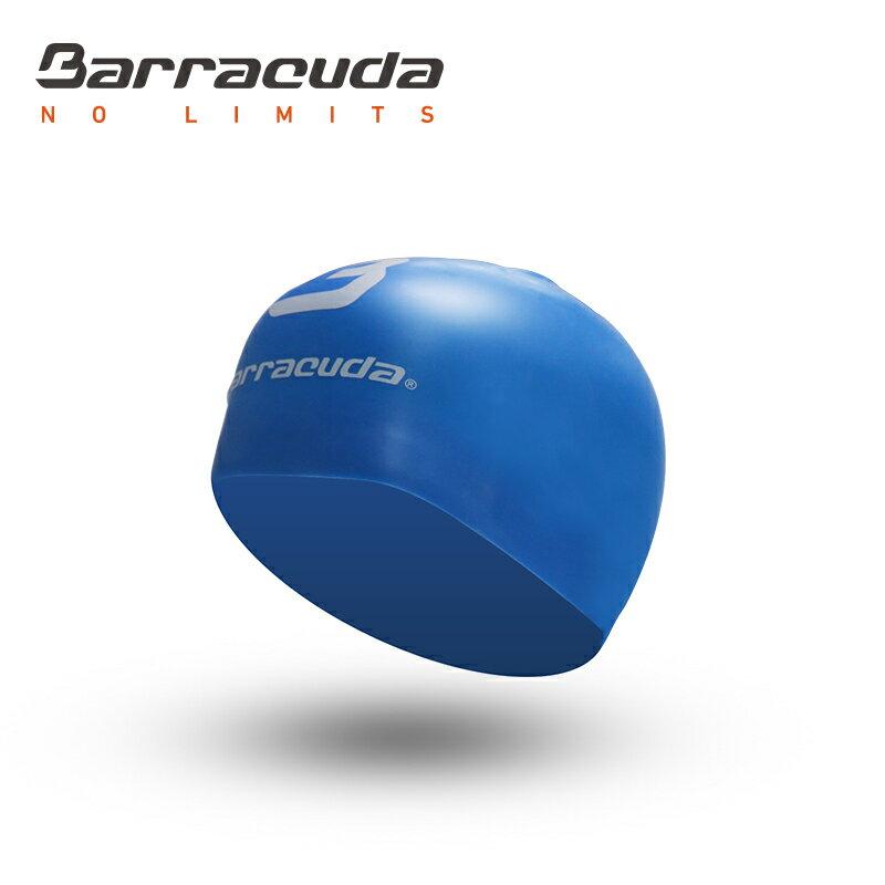 美國巴洛酷達Barracuda成人矽膠3D泳帽-藍色 0