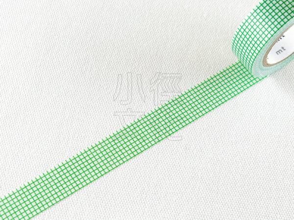 *小徑文化*日本和紙膠帶 mt 2014aw 1P DECO - 方眼 . 海藻綠 ( MT01D265 )