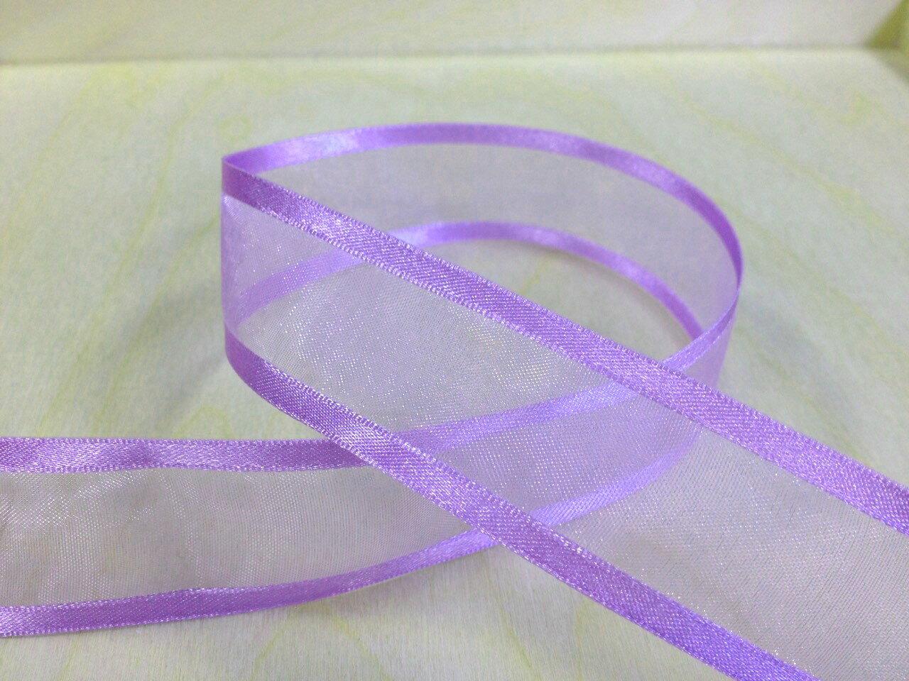 緞邊雪紗緞帶25mm 3碼裝(26色) 2