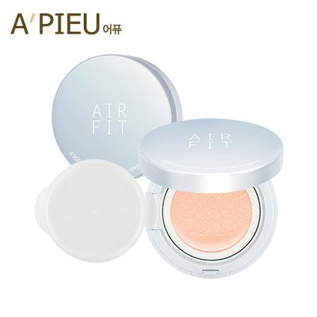 韓國 A  ^#27 PIEU 超輕透零毛孔氣墊粉餅 ^#APRICOT 氣墊粉餅 舒芙蕾