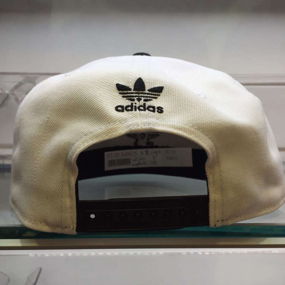 超熱賣 BEETLE ADIDAS ORIGINALS THRASHER 白黑 後扣棒球帽 貝克漢 SNAPBACK 2