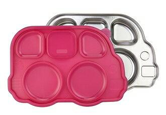 美國 Innobaby 不鏽鋼巴士造型餐盤  附餐盤蓋 *夏日微風*