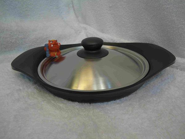 *新品上市* 日本製*柳宗理 22cm 南部鐵器 平底鐵盤/ 附不鏽鋼蓋 *瓦斯爐/電磁爐適用*