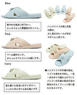 日本皇家品牌*PANSY* 淑女手工 向日葵款 室內拖鞋*女生款-8580-