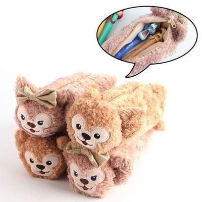 =優生活=迪士尼Duffy ShellieMay 雪莉梅 達菲 熊 筆袋 化妝包 鉛筆盒 收納包 雪莉玫