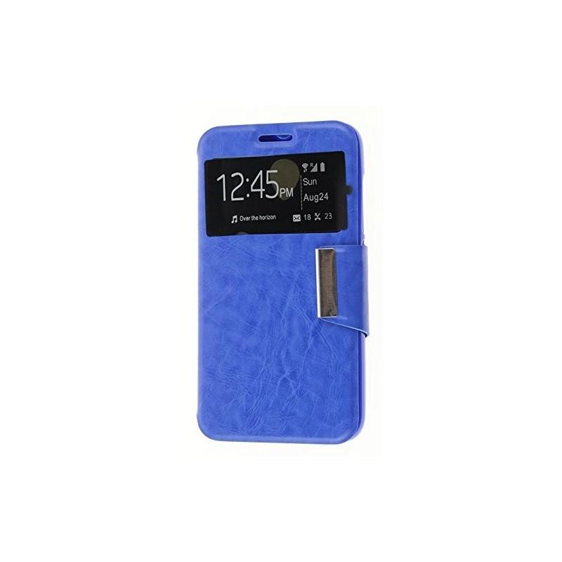Funda CUERO Tipo LIBRO VENTANA Stand Vodafone Smart Prime 6 / Alcatel One Touch Pop 2 (5) 2