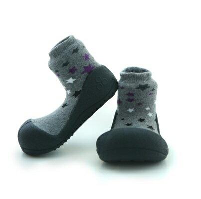 【本月特價$599】韓國【Attipas】快樂腳襪型學步鞋-黑底星空 - 限時優惠好康折扣