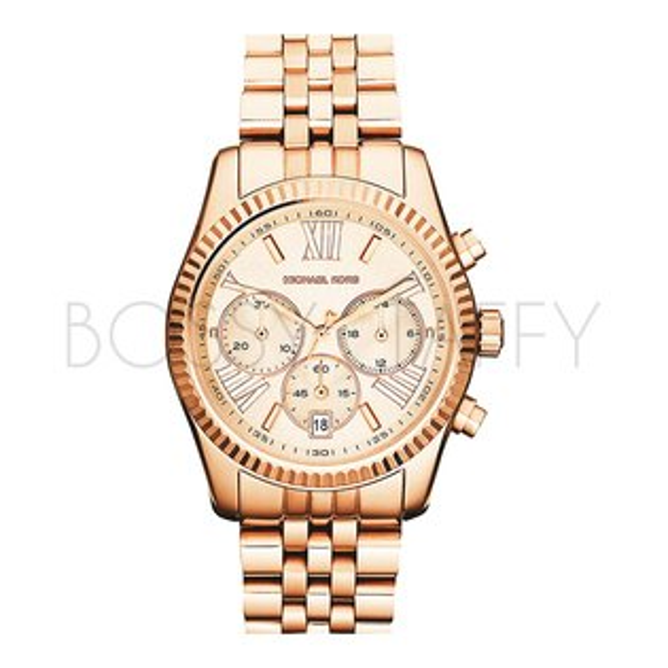 MK5569 MICHAEL KORS 手錶鋼帶 玫瑰金 計時 女錶 男錶  38mm