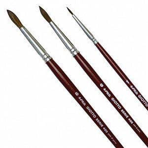 【義大利 GIOTTO】藝術家400水彩筆(圓) 一組三支(1、6、8號)