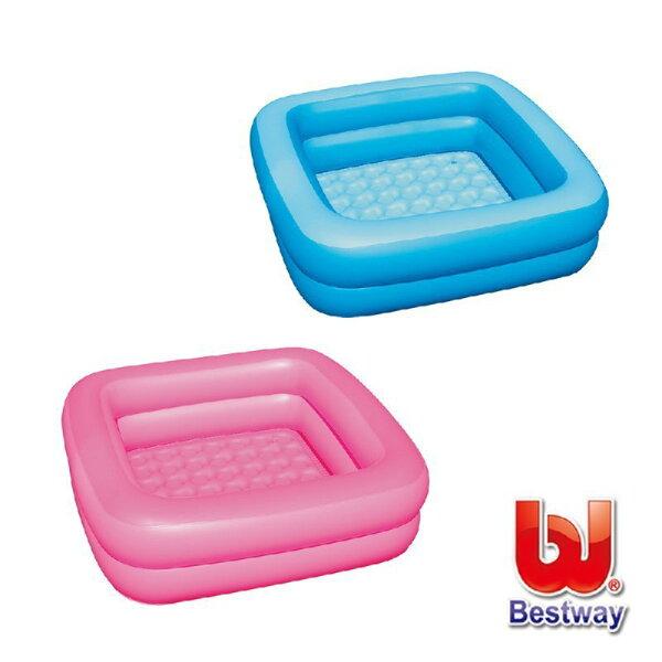《Bestway》寶寶方型充氣浴盆-藍、粉紅(69-10421)