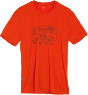 Icebreaker 排汗衣/短袖T恤/美麗諾羊毛 Tech Lite 男圓領短袖上衣103279-801 露營車紅