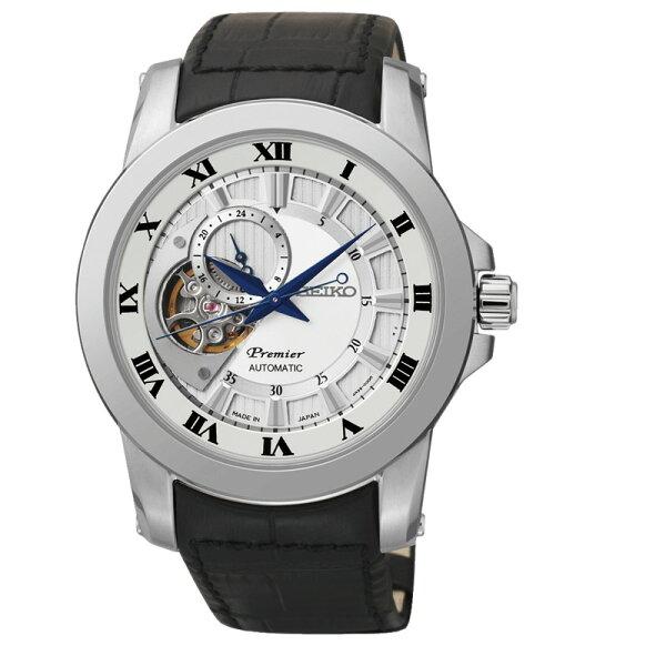SEIKO Premier 24小時顯示開芯機械錶/4R39-00L0J/SSA213J2