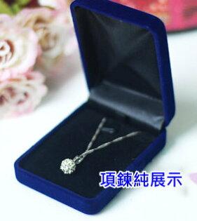 植絨吊墜盒耳環盒項鍊盒首飾盒珠寶盒8x6x3公分