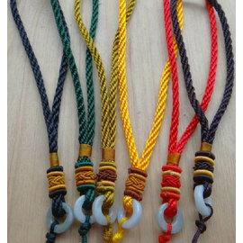天然緬甸玉中國結手把吊飾吊繩批發 - 單條 - 買五送一