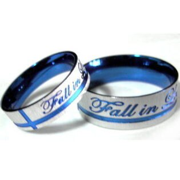 Fall in Love 鈦鋼戒批發 (單只價) 情人對戒 * 附戒指盒