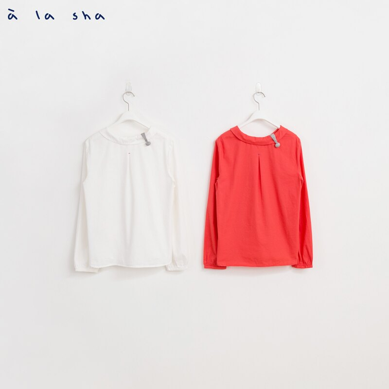 a la sha mucha 領邊小三角織片造型襯衫 2