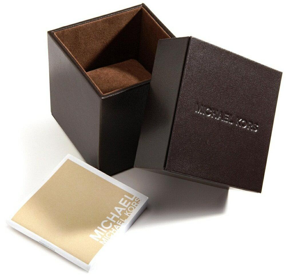 美國Outlet 正品代購 MichaelKors MK 玫瑰金鑲鑽 黑色皮帶三環計時手錶腕錶 MK2376 8
