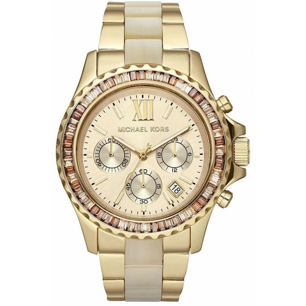 美國Outlet正品代購 MichaelKors MK 精鋼 水鑽  陶瓷  三環 手錶 腕錶 MK5874 2