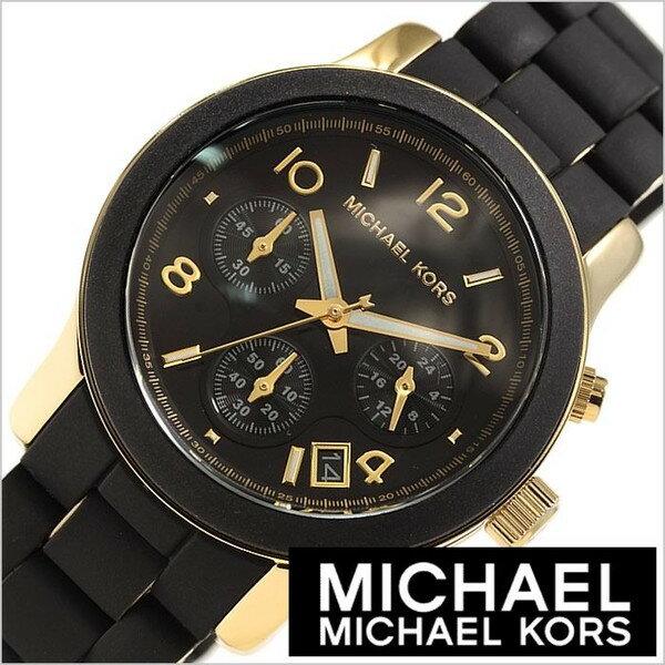 美國Outlet正品代購 MichaelKors MK 黑色橡膠 三環 運動風手錶腕錶 MK5191 1