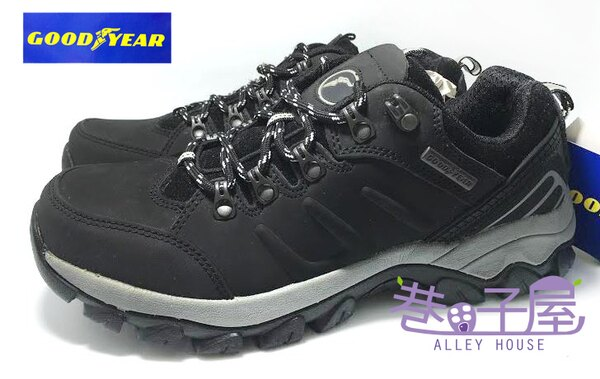 【巷子屋】GOODYEAR固特異 山野墾趣系列 男款純正皮革專業多功能戶外運動鞋 [30050] 黑 超值價$690