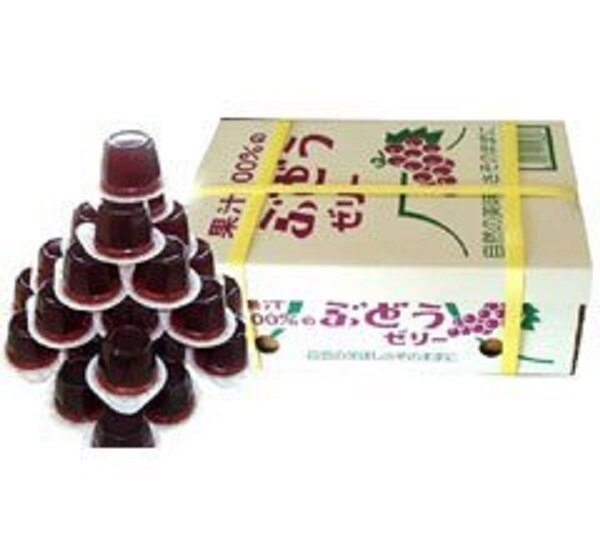 有樂町進口食品 日本進口 團購人氣商品 AS水果箱果凍 葡萄 552g/23粒 J150 4905491256607