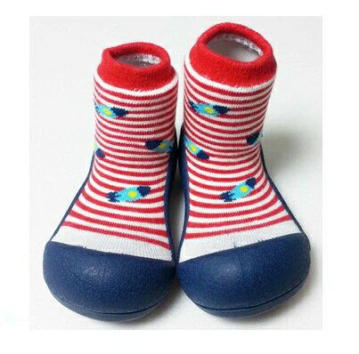 【本月特價$599】韓國【Attipas】快樂腳襪型學步鞋-藍底飛碟 - 限時優惠好康折扣