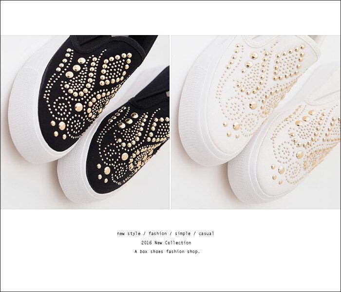 ★399免運★格子舖*【KT2155】嚴選熱賣款 金屬璀璨華麗 3CM鬆糕鞋 厚底包鞋 懶人鞋 帆布鞋 2色 1