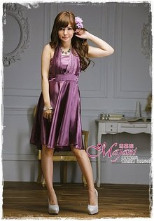 [瑪嘉妮Majani]- 甜美 氣質 大尺碼小禮服 伴娘服 宴會 約會 L~3XL 特價590元免運 ld-023