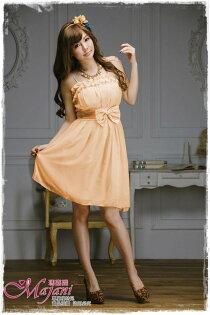 [瑪嘉妮Majani]- 甜美 氣質 大尺碼小禮服 伴娘服 宴會 約會 L~3XL 特價590元免運 ld-041
