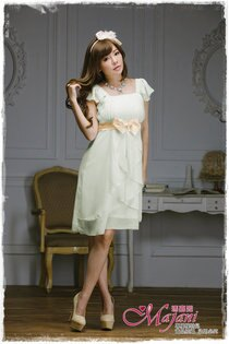 [瑪嘉妮Majani]- 甜美 氣質 大尺碼小禮服 伴娘服 宴會 約會 L~4XL 特價590元免運 ld-081