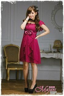 [瑪嘉妮Majani]- 甜美 氣質 大尺碼小禮服 伴娘服 宴會 約會 L~3XL 特價590元免運 ld-082