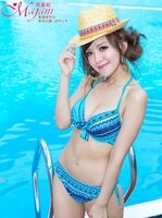 比基尼/泳裝/泳衣到[瑪嘉妮Majani] 日系中大尺碼-大罩杯 鋼圈式比基尼 30 32 36 38 40 42 44 46 B~H罩杯 特價690元 含運 bk-001-2
