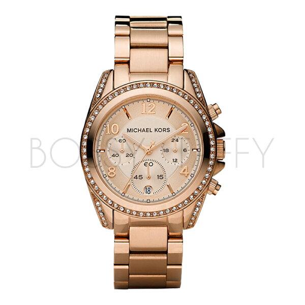 MK5263 MICHAEL KORS 玫瑰金色水晶女錶