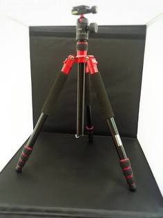 特價腳架 F2.0 反折鋁鎂合金輕便四節腳架 (紅色)