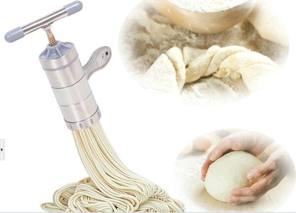 *GuoQu* 立麥正品 (5種壓模) 不銹鋼立麥麵條機 家用手動壓麵機 壓麵機 壓麵器 製麵器 製麵機 不銹鋼麵條機可當榨汁機