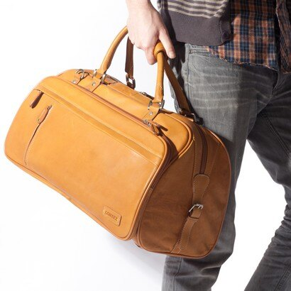 Woodland Leather Explorer Leather Holdall (tan) 0