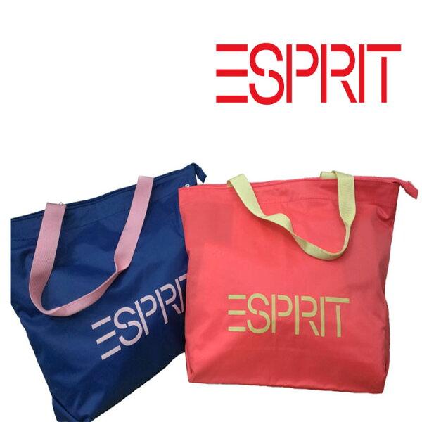 【山德力】ESPRIT 撞色歐美藍色單肩女包