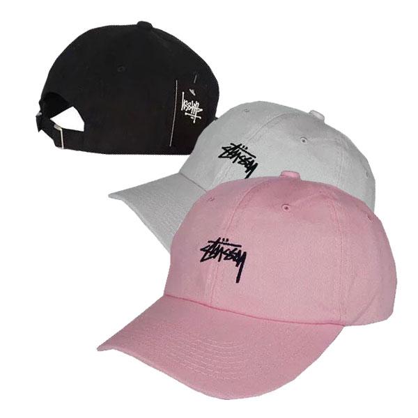 Stussy 老帽 板帽 棒球帽 鴨舌帽 翻玩 英文字母刺繡 復古素面 黑粉白