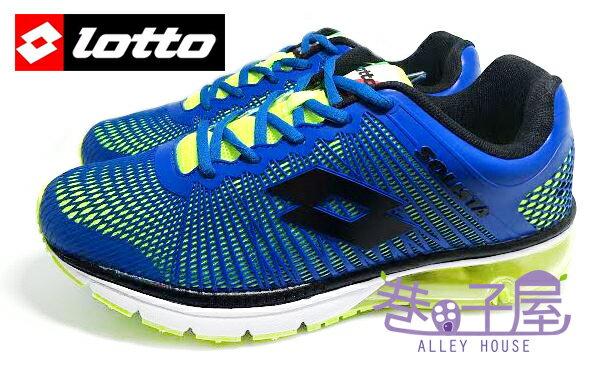 ~巷子屋~義大利第一品牌~LOTTO樂得 RUNNING 男款KPU風潮 氣墊慢跑鞋 ^~