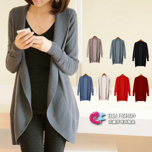 韓國連線針織外套 時尚風西裝式外套罩衫【TAE1613】艾爾莎 0