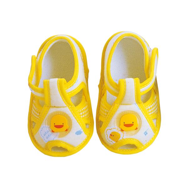 『121婦嬰用品館』黃色小鴨 格狀學步鞋 1