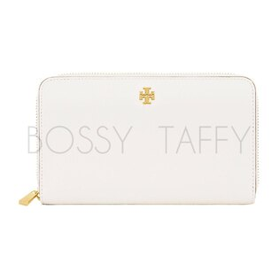 TORY BURCH 11169071 ROBINSON ZIP CONTINENTAL WALLET 白色長夾