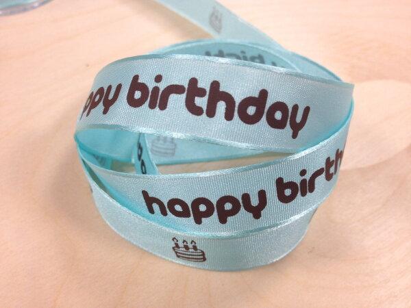 【Crystal Rose緞帶專賣店】平織帶生日快樂-蛋糕