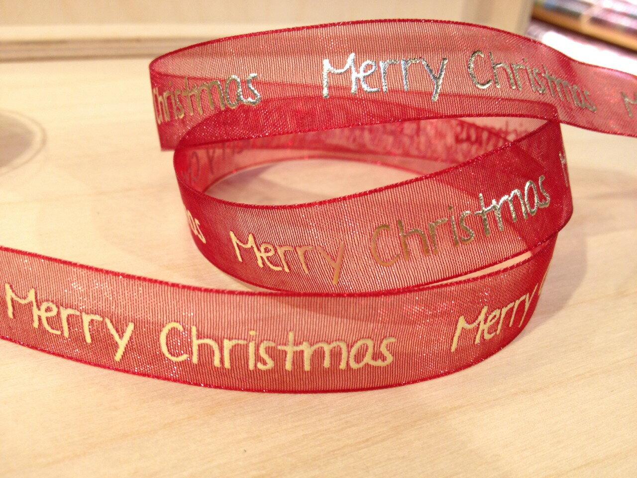 聖誕緞帶Merry Christmas(4色) 0
