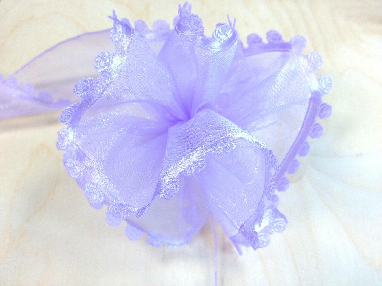 【Crystal Rose緞帶專賣店】玫瑰壓紋拉花(八色) 2