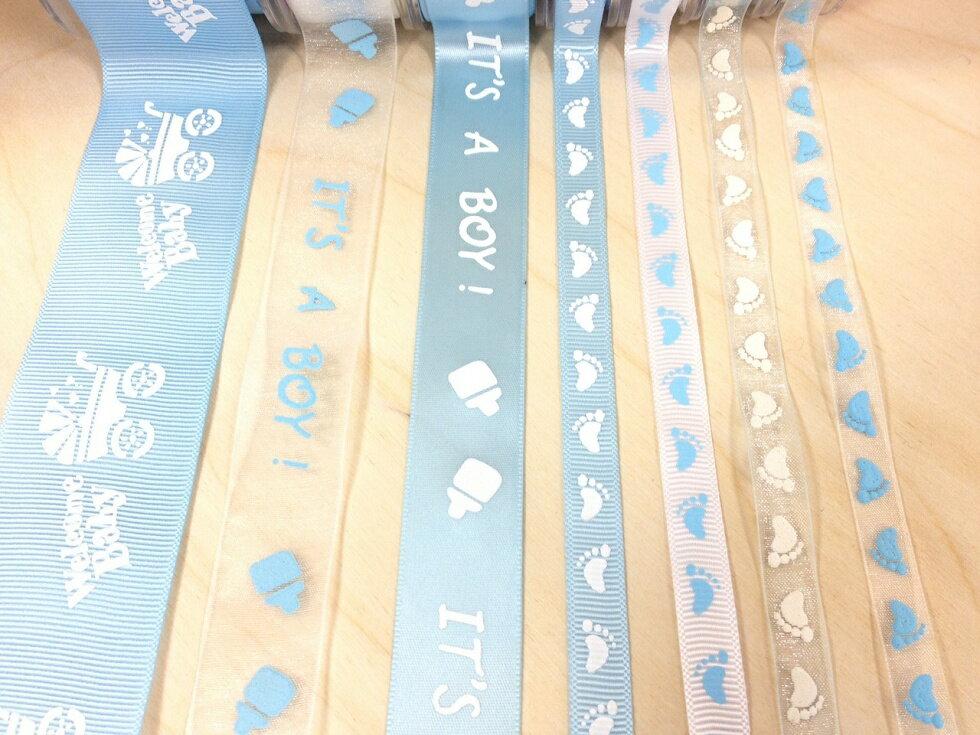 Baby 嬰兒緞帶禮盒7入(2色) 1