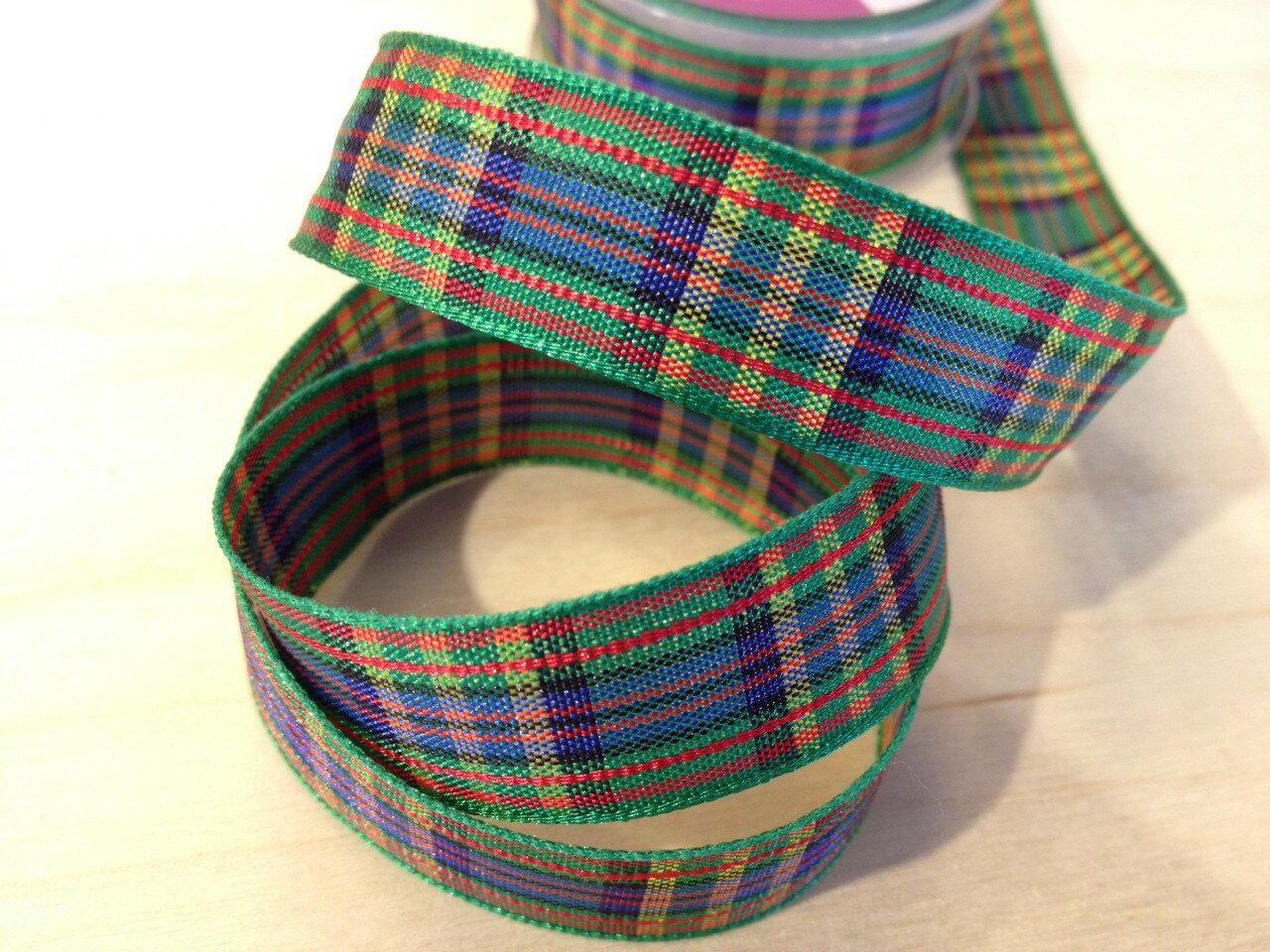 經典蘇格蘭格紋15mm250公分(6色) 2