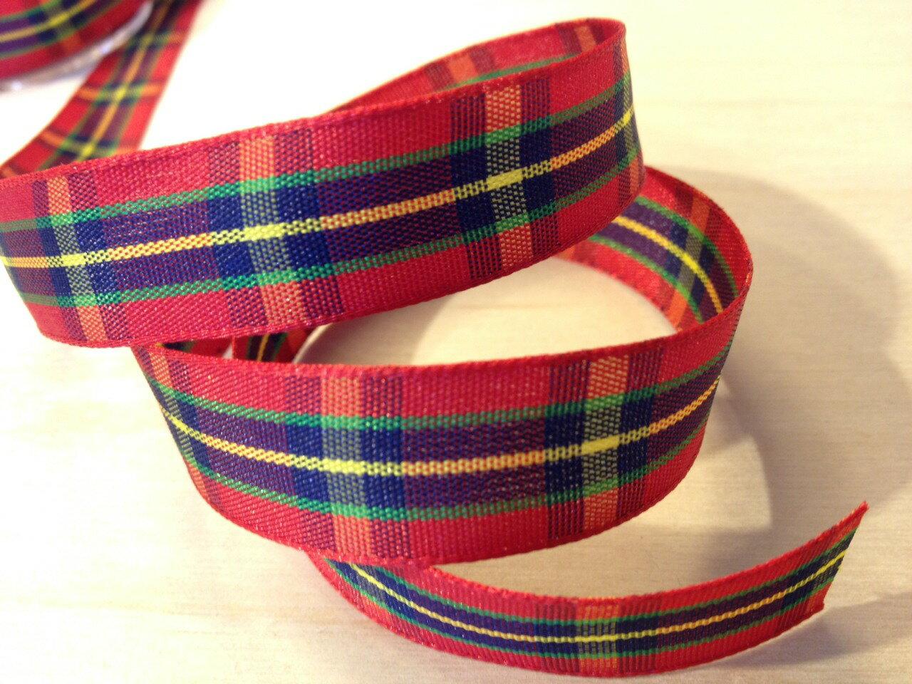 經典蘇格蘭格紋15mm250公分(6色) 1
