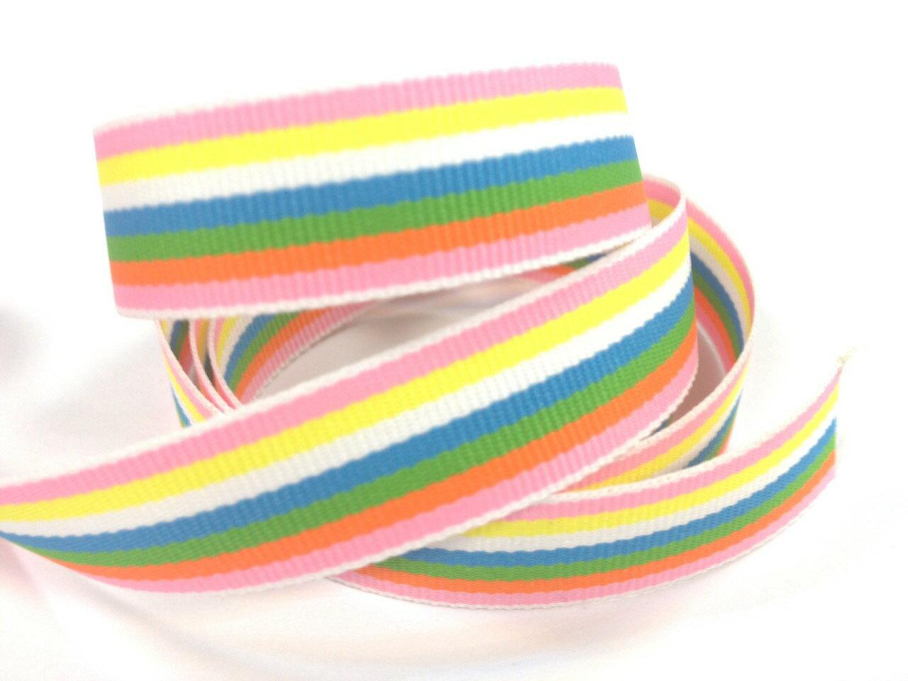 【Crystal Rose緞帶專賣店】彩虹平織帶 - 限時優惠好康折扣